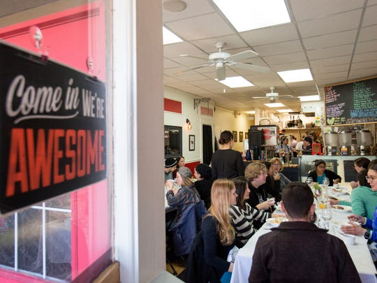 Those who attended the pop-up brunch on Jan. 28 were