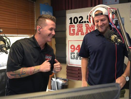 102.5 The Game morning show host Jason Fitz, left,