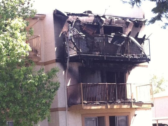 Tempe, Mesa and Scottsdale emergency crews were called to an apartment fire near University and McClintock drives about 9:30 a.m. Tuesday.