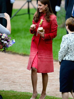 Duchess Kate greets fans during a day trip to Scotland on May 29.