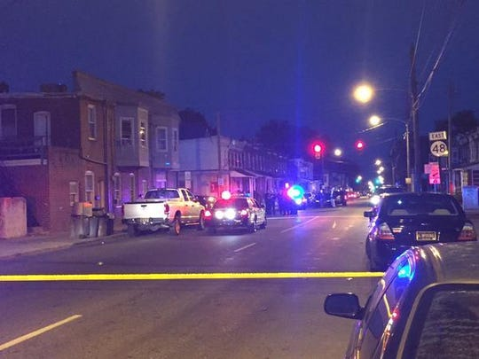 Police and detectives are at the scene of a shooting that injured one person at Lancaster Avenue and South Dupont Street Thursday night.