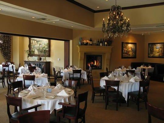 Dining room at La Spiga in Palm Desert.