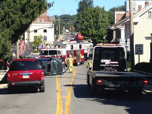 A 2-vehicle crash happened in Annville on Rt. 934 just south of the Rt. 422 intersection around 10:15 a.m. on Monday morning.