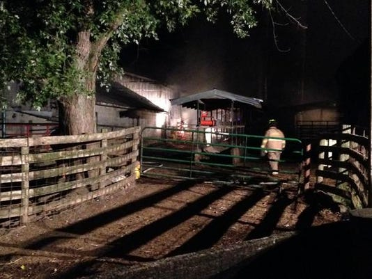 A barn fire Monday night in North Codorus Township started from a controlled burn.
