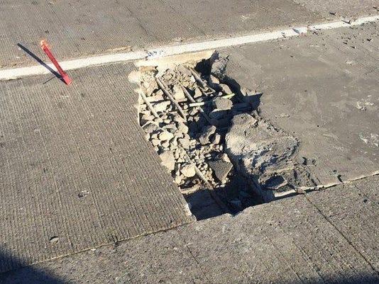 Rouge River pothole
