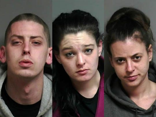 Joseph Kratz, 25, of Warren; Dana Rose Withers, 24, of Warren; and Nichole Lynn Harbison, 31, of Warren.