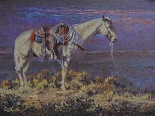 TheHorseAsMuse_mia delode the navajo blanket (2).jpg