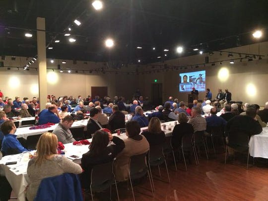 Louisiana Tech fans gather for Wednesday's Signing Day Social event in Ruston.