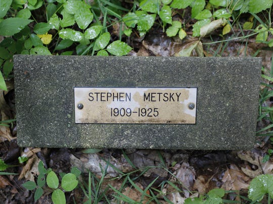 Steven Metski, whose name is misspelled on his grave, died on the Thursday before Easter in 1925. He lived at the school for only two months.