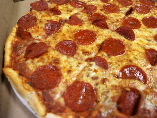 A pepperoni pizza from Clay Valley Pizza in Roseville.