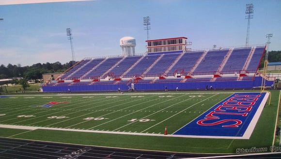 New rendering of the West Monroe High School home side