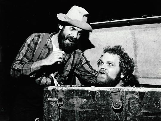 "John Maxwell (left) and Ray McFarland in ""The Robber Bridegroom"" in 1980 at New Stage Theatre."