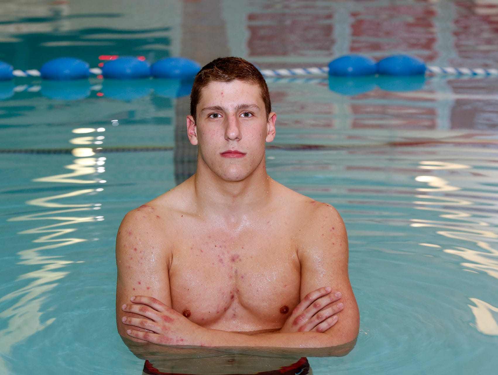 North Rockland's Matthew Zugibe, the 2015-2016 Rockland Swimmer of the Year, photographed at the North Rockland High School pool in Thiells on Tuesday, March 22, 2016.
