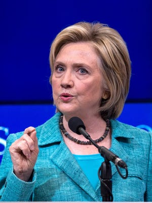 Democratic presidential candidate Hillary Clinton campaigns in Washington on Sept. 9, 2015.