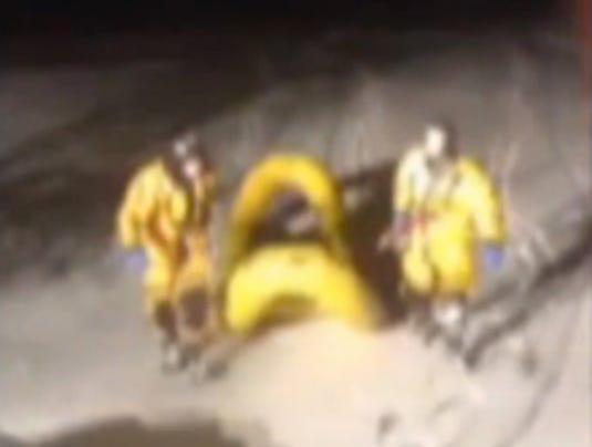 dog ice pond rescue