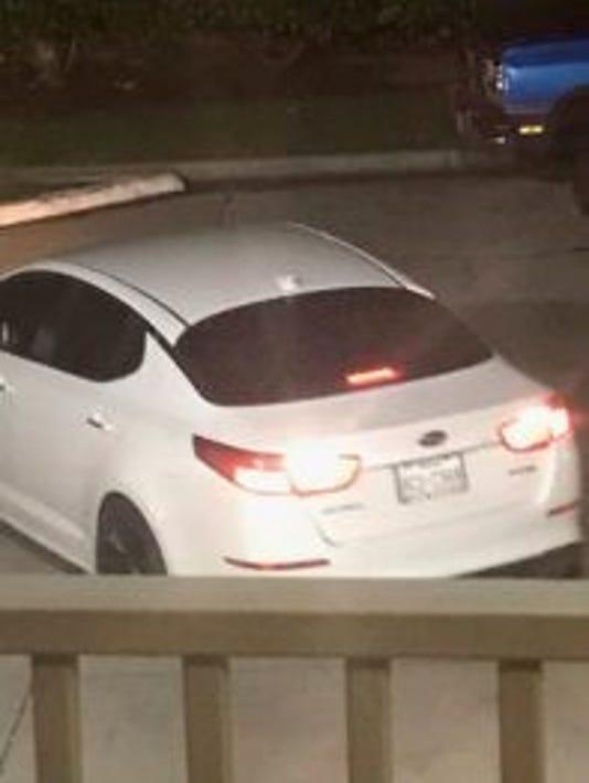 Police looking for white Kia Optima