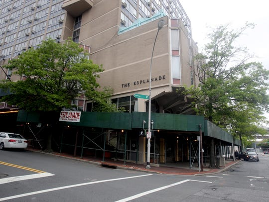 The former Esplanade senior residence is being re-purposed into luxury rental apartments. The building is located at  95 S. Broadway and Lyon Place.