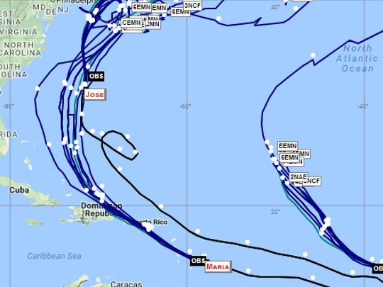 Long-range hurricane track forecasts