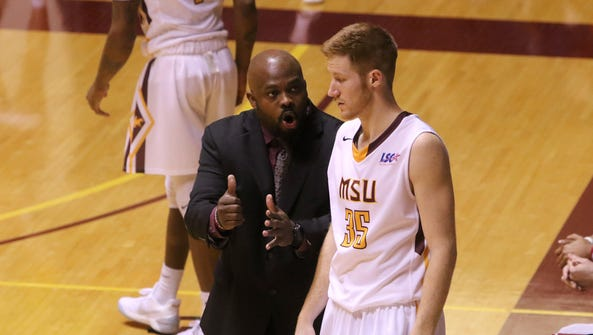 Midwestern State head men basketball coach Nelson Haggerty