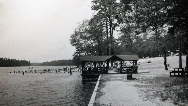 Lake Carasaljo, Lakewood, N.J. Circa 1950's.  Special to the Courtesy of Lakewood Historical Society