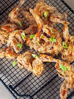 Fried up golden brown, these farm-raised quail are a unique and delicious alternative to chicken.