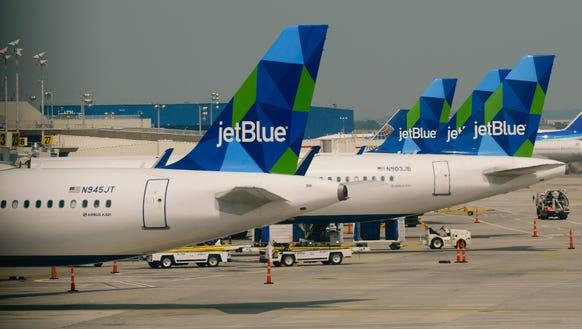 JetBlue planes at JFK Airport.