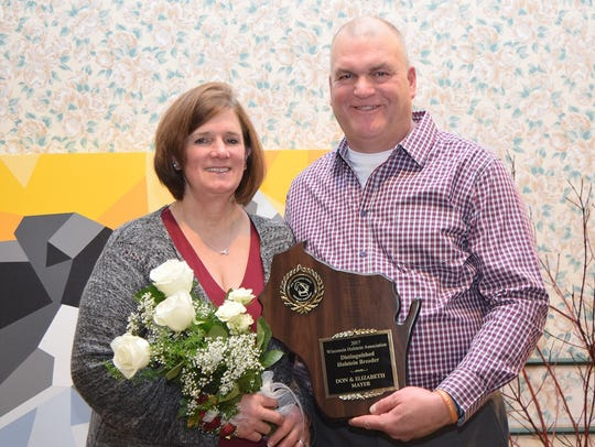 Distinguished Holstein Breeder Award winners Don and