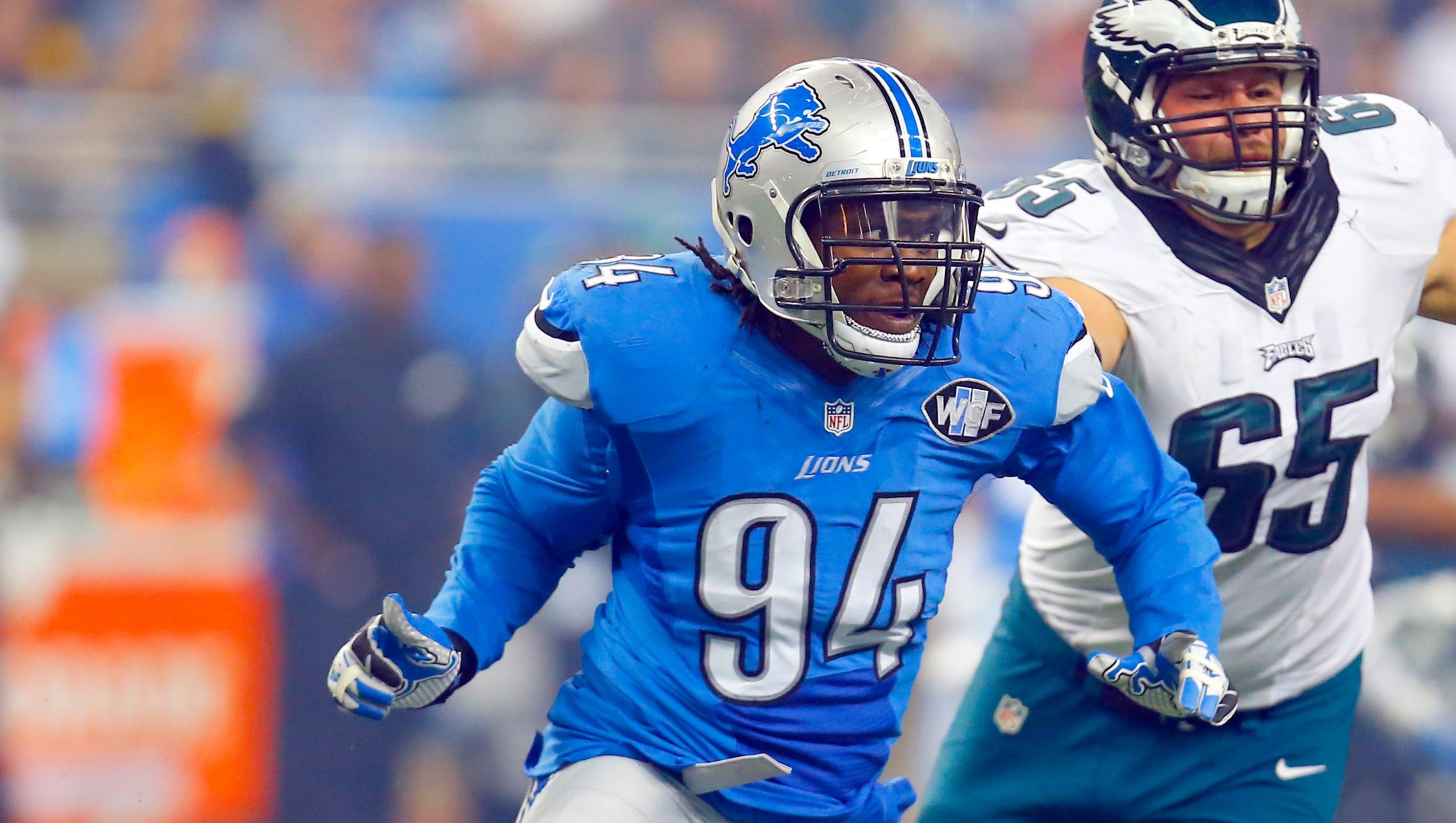 nfl LIMITED Detroit Lions Ezekiel Ansah Jerseys