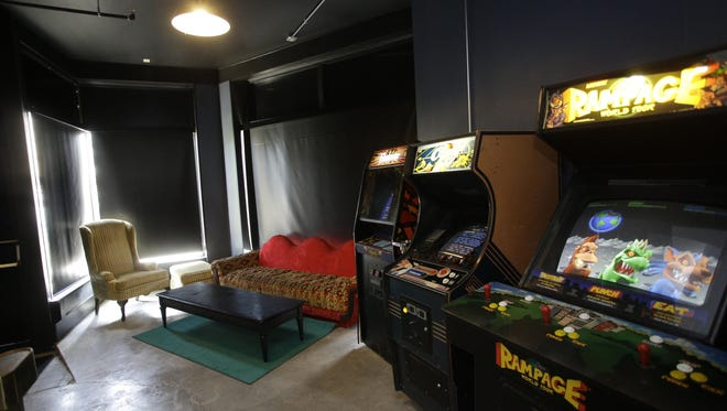 Arcade Legacy in Northside has beer, food and old school arcade games. They also have areas with couches and television sets to play video games.
