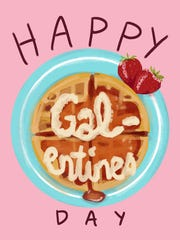 """A Galentine's Day card from the Etsy shop """"Giant Talk."""""""