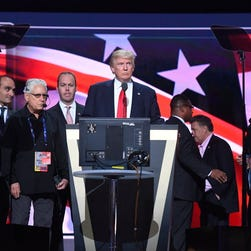 Donald Trump at the Republican National Convention on July 21, 2016