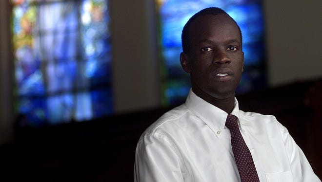 Salva Dut, a refugee from Sudan, settled in Rochester. He founded Water for South Sudan.