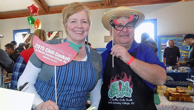 New Hampshire's 14th annual Chili Cookoff will take place at the North Conway Community Center and Gibson Center for Senior Services on April 8. Professional and amateur chefs compete for the best chili with samples for attendees and area activities, including a 5k run.