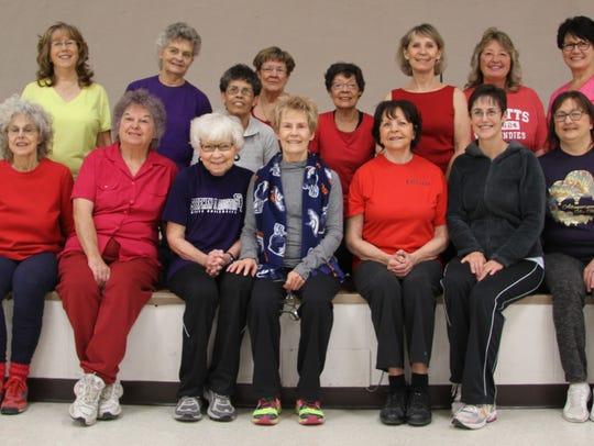 The aerobics class at the Carlsbad Seniors Citizen