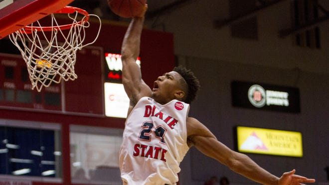 Dixie State's Trevor Hill leads the Trailblazers into the conference tournament on a 15-game winning streak