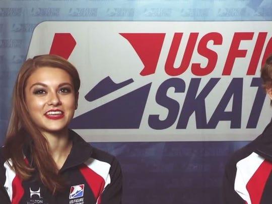 Ice skaters, Kaitlin Hawayek & Jean Luc Baker Courtesy: US Figure Skating via Youtube