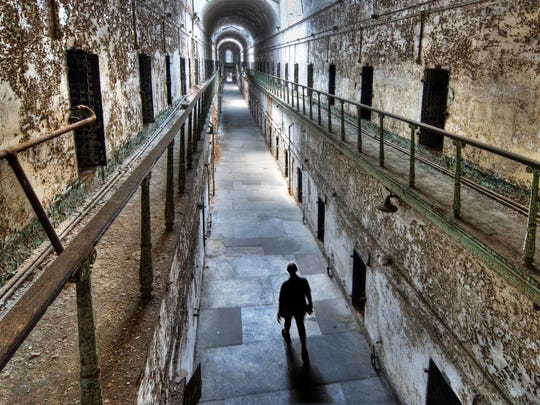 Cellblock 7 of Eastern State Penitentiary in Philadelphia.