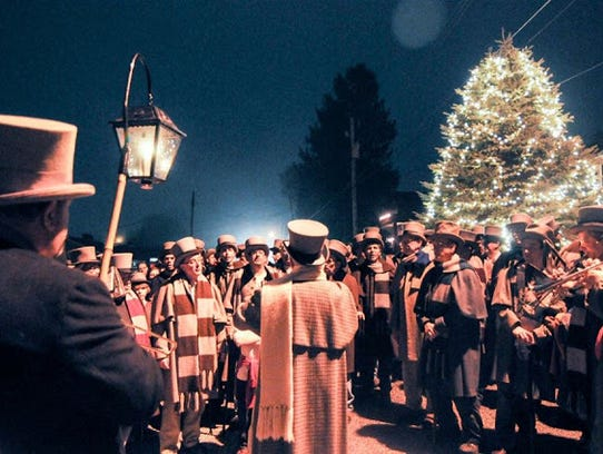 Each year, the Glen Rock Carolers sing from midnight