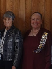Elizabeth M Woods, left, and Brenda Gunnoe Mandes