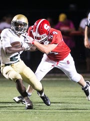 York Catholic running back Jakkar Kinard is the leading