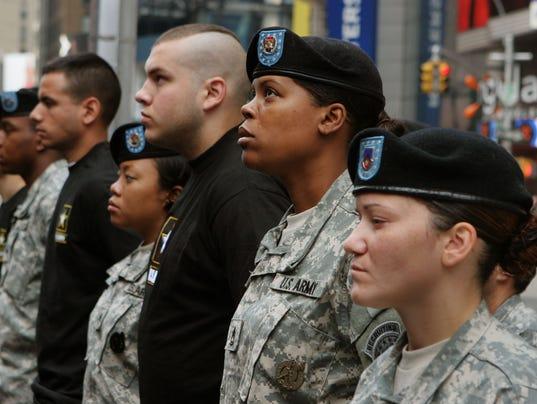AP MILITARY RECRUITS BLACKS A FILE USA NY