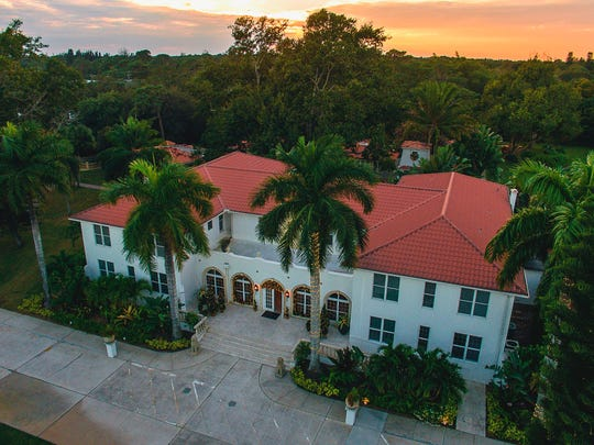 An aerial view of Shangri-La Springs, located in the historic downtown district on Old 41 in Bonita Springs.