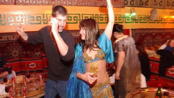 Belly dancers frequently performed for, and with, birthday-celebrating patrons at Casablanca Restaurant on U.S. 13 near New Castle.