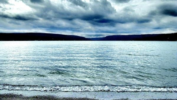 A dramatic view of Honeoye Lake.