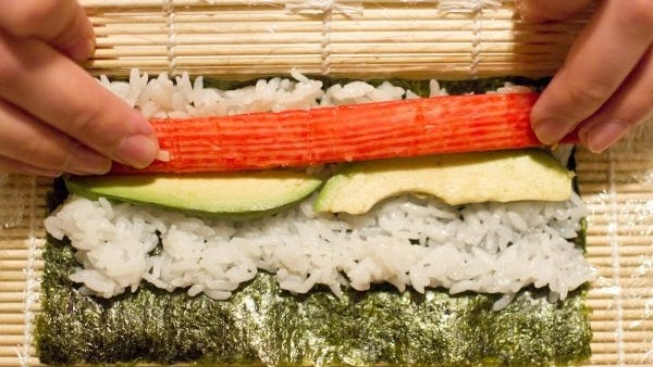 Learn how to make and roll sushi at the Great Lakes Culinary Center in Southfield.