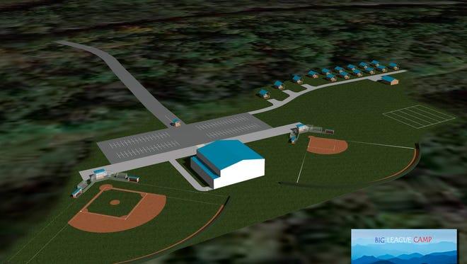 An artist rendering of Big League Camp at Lake James.