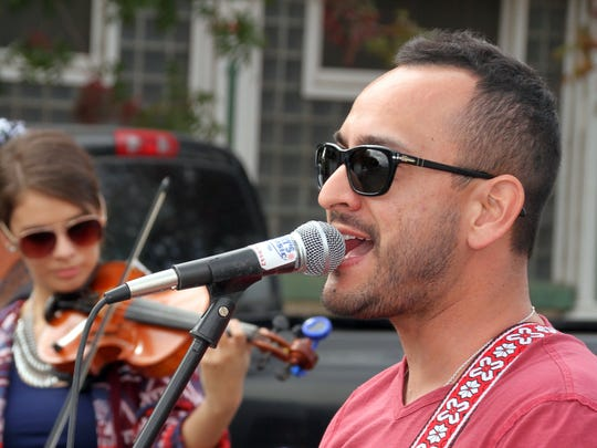 Members of the Horizon Band belted out their own brand of country music stylings on historic Silver Avenue.