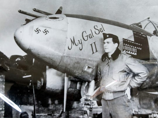 Seth McKee, then a lieutenant colonel, and his P-38