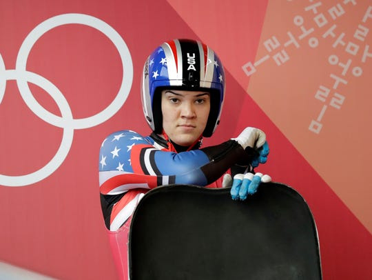 Summer Britcher of the United States prepares for her