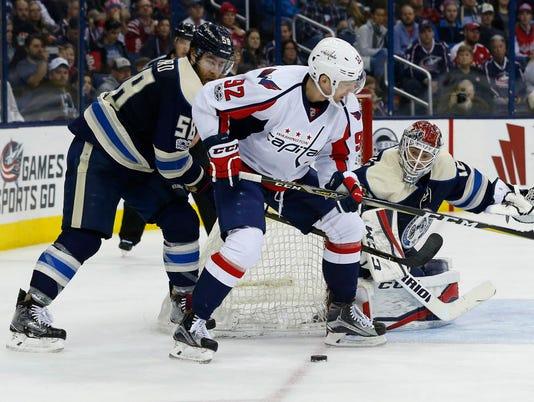 USP NHL: WASHINGTON CAPITALS AT COLUMBUS BLUE JACK S HKN CBJ WSH USA OH